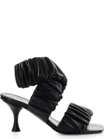Halmanera Zena Black Heeled Mules