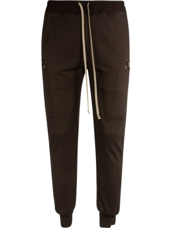 Rick Owens Ribbed Cargo Track Pants