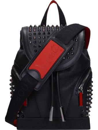 Christian Louboutin Explorafunck Backpack In Black Leather