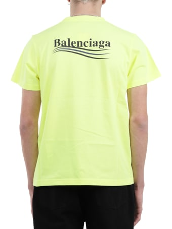 Balenciaga Yellow Political Campaign T-shirt