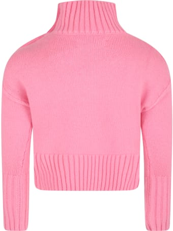 Zadig & Voltaire Pink Sweater For Girl With Writings