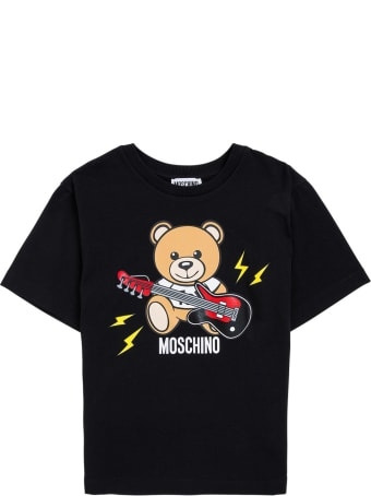 Moschino Cotton Maxi T-shirt With Teddy Bear Print
