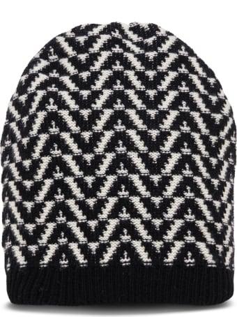 Valentino Garavani Optical Beanie Wool Hat