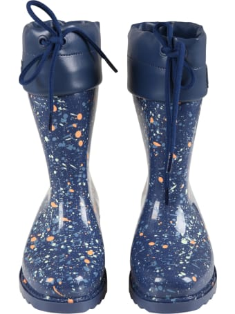 Melissa Blue Boots For Girl With Spots