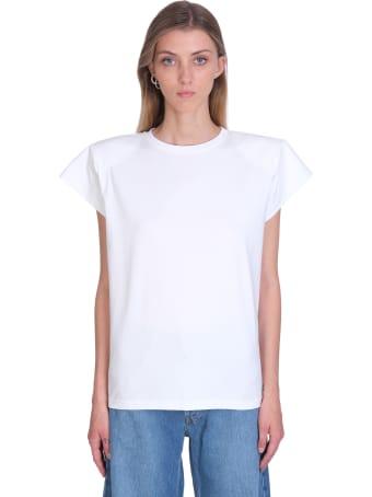 Magda Butrym T-shirt In White Cotton