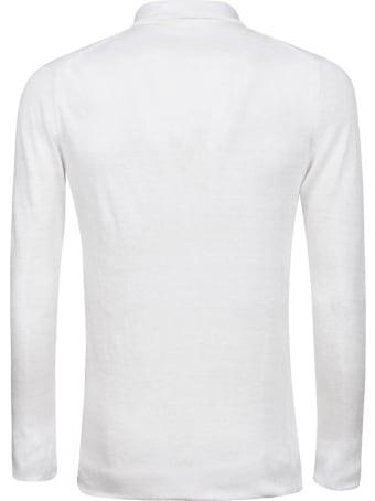 Eddy Monetti Linen Long Sleeve Polo Shirt