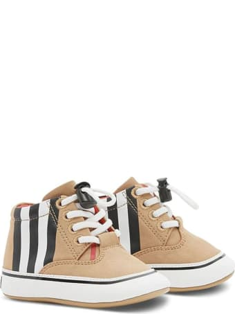Burberry Beige Cotton Sneakers