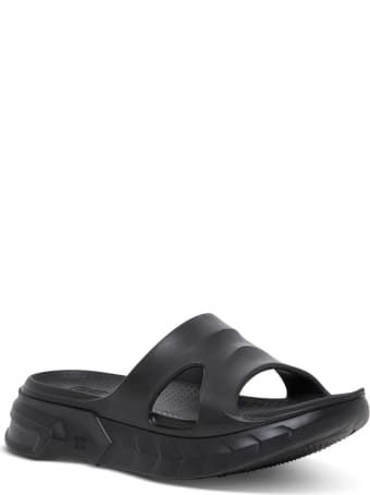 Givenchy Black Rubber Marshmallow Sandals