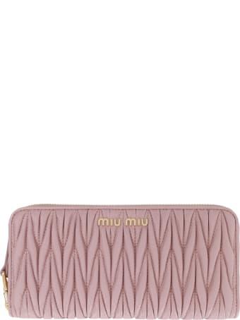 Miu Miu Continental Leather Wallet