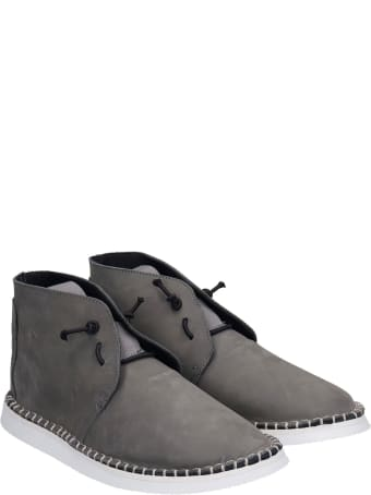 Bruno Bordese Flavor Lace Up Shoes In Grey Nubuck