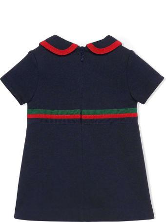Gucci Dark Blue Cotton Jersey Dress