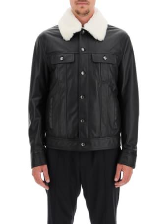Dolce & Gabbana Lambskin Aviator Jacket