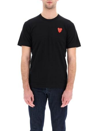 Comme des Garçons Shirt Boy Play T-shirt With Heart Logo Patch
