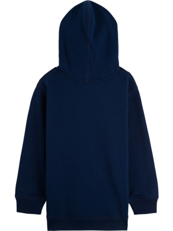 Gucci Cotton Blue Hoodie With Disck Print