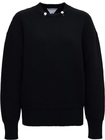Bottega Veneta Black Wool Sweater With Rings Detail