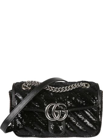 Gucci Sequin-coated Shoulder Bag