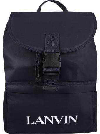 Lanvin Bleu Backpack For Kids With Logo
