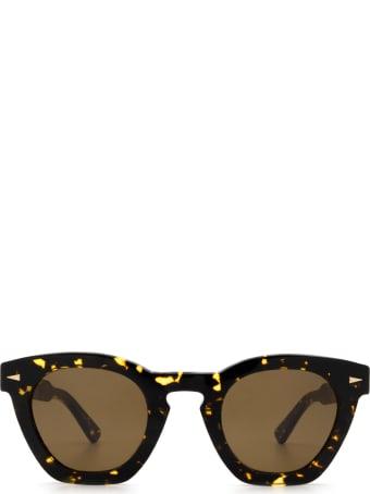AHLEM Ahlem Montorgueil Yellow Turtle Sunglasses