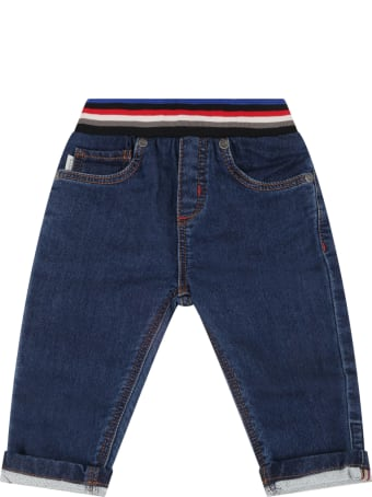 Paul Smith Junior Blue Jeans For Baby Boy With Zebra
