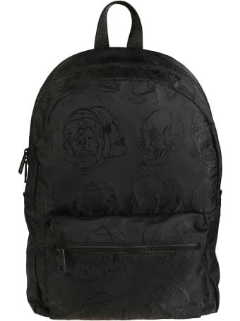 Alexander McQueen Skull Embroidered Backpack