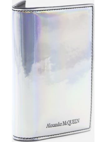 Alexander McQueen Holographic Bifold Wallet With Logo Detail