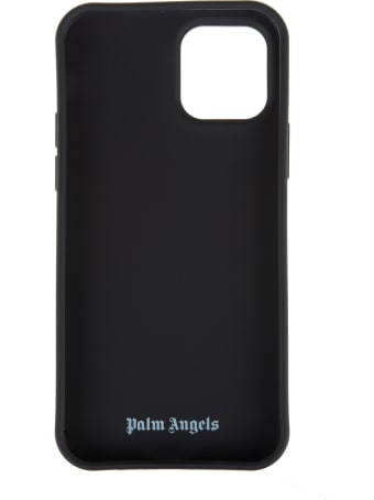 Palm Angels Black Iphone 12 Pro Case With Star Eyes Teddy Print