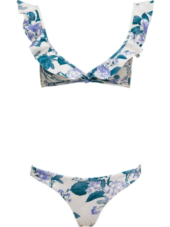 Zimmermann Cassia Waterfall Bikini With Floral Print