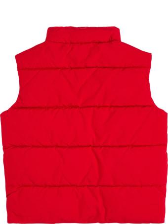 Emporio Armani Red Nylon Sleeveless Vest With Logo
