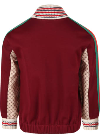Gucci Multicolor Weatshirt For Kids With Double Gg