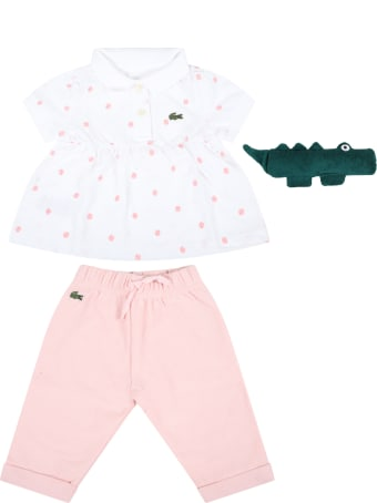 Lacoste Multicolor Set For Baby Girl