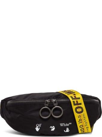 Off-White Nylon Waist Bag With Lgoo Ow