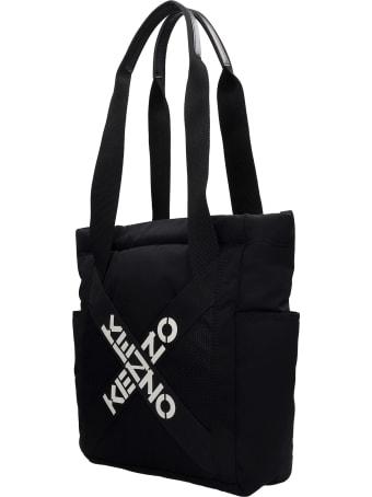 Kenzo Tote In Black Nylon