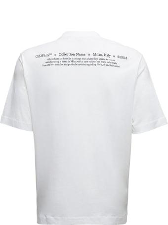 Off-White White Cotton T-shirt With Caravaggio Print