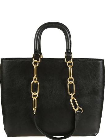 Love Moschino Studded Top Handle Chain Tote