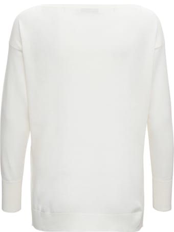 Fabiana Filippi Long-sleeved Wool And Cashmere Sweater With Bright Detail