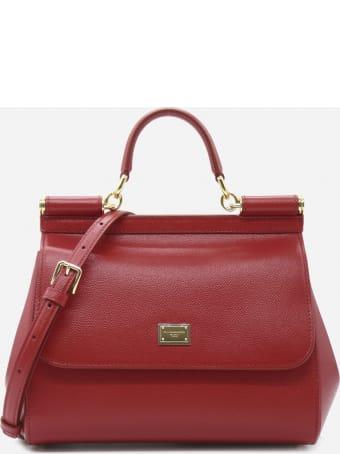 Dolce & Gabbana Medium Sicily Bag In Leather