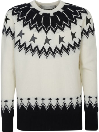 Golden Goose Deidra Patchwork Jacquard Star Logo Sweater