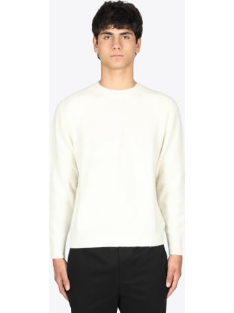 Mauro Grifoni Off-white Wool Crewneck Sweater
