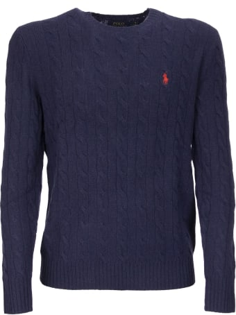 Ralph Lauren Cable Knit Sweater In Wool And Cashmere