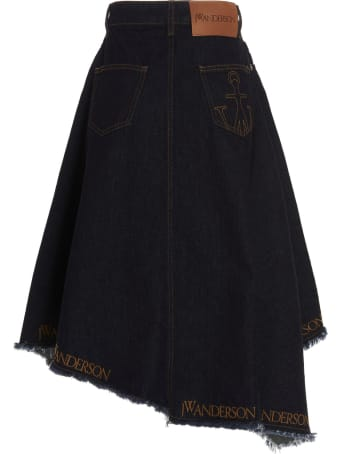 J.W. Anderson Asymetrical Logo Skirt