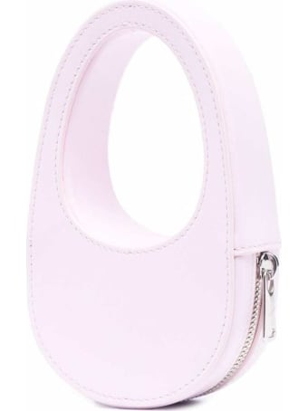 Coperni Pink Leather Mini Swipe  Crossbody Bag