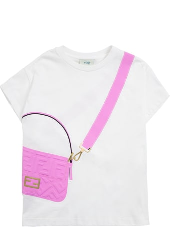 Fendi White T-shirt With Baguette Print