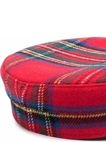 Ruslan Baginskiy Baker Boy Tartan Wool Hat