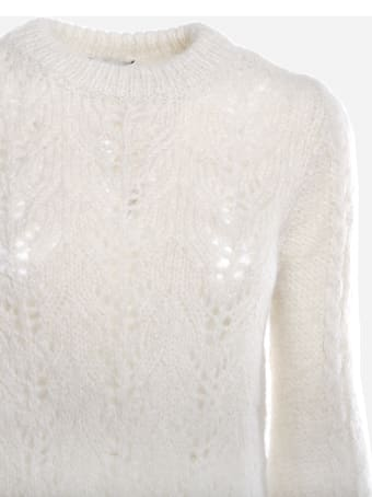 Dondup Alpaca Sweater With Woven Pattern