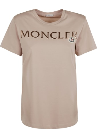 Moncler Regular Logo Patched T-shirt