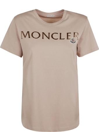 Moncler Regular Logo Patched T-shirt