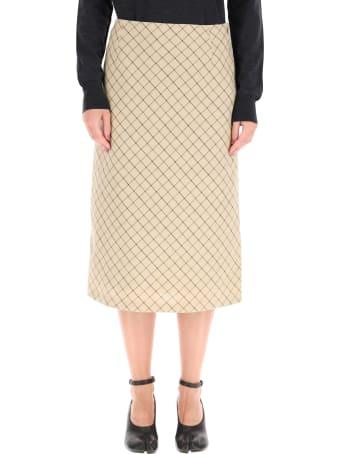Maison Margiela Midi Cotton Skirt
