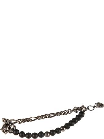 Alexander McQueen Beads & Skull Chain Bracelet
