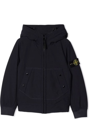 Stone Island Navy Blue Padded Hooded Jacket