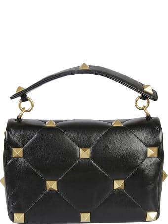 Valentino Garavani Pyramid Studded Quilted Shoulder Bag
